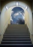 Escalada ao céu Fotografia de Stock Royalty Free