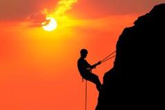 Escalada ao sol Imagem de Stock Royalty Free