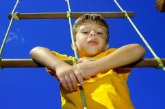 Escalada da criança Imagem de Stock Royalty Free