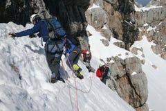 Escalada de montanha Imagem de Stock Royalty Free