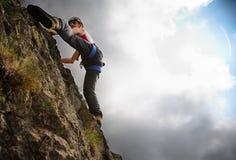 Escalada de montanha Fotografia de Stock