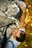Escalada de rocha Imagem de Stock