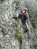 Escalada de rocha Imagem de Stock Royalty Free