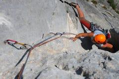 Escalada de rocha Foto de Stock