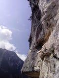 Escalada de rocha Fotografia de Stock
