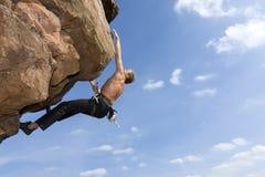 Escalada de rocha extrema Fotografia de Stock