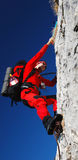 escalada de rocha romania dos homens Imagem de Stock Royalty Free