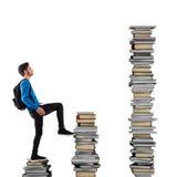 Escalada del conocimiento Foto de archivo libre de regalías