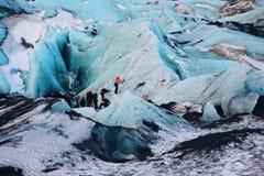 Escalada do gelo Fotos de Stock