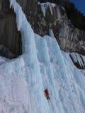 Escalada do gelo Imagem de Stock