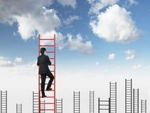Escalada do homem de negócios Foto de Stock Royalty Free
