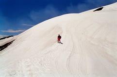 Escalada do vulcão de Villarica, o Chile Fotografia de Stock Royalty Free