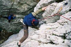 Escalada em Poiana Stanii - Sinaia - Romania imagem de stock