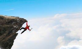 A escalada extrema é sua adrenalina Meios mistos Foto de Stock