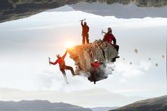 A escalada extrema é sua adrenalina Meios mistos Imagem de Stock Royalty Free