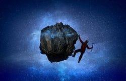 A escalada extrema é sua adrenalina Meios mistos Imagem de Stock
