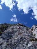 Escalada na rocha Imagem de Stock Royalty Free