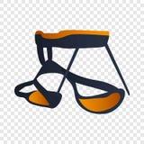 A escalada segura protege o ícone, estilo dos desenhos animados ilustração do vetor