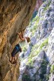 Escalade et alpinisme en parc national de Paklenica photos libres de droits