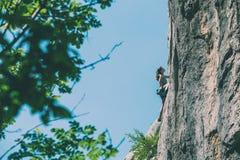 Escalade et alpinisme en parc national de Paklenica photo libre de droits