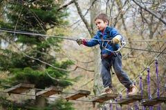 Escalador activo del niño Fotos de archivo libres de regalías