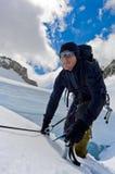 Escalador de hielo Fotos de archivo