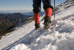 Escalador de montaña Imagenes de archivo