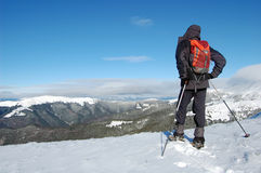 Escalador de montaña Imagen de archivo libre de regalías