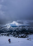 Escalador de montaña Fotos de archivo libres de regalías