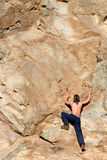 Escalador de montaña Foto de archivo