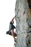 Escalador de roca Fotos de archivo libres de regalías