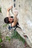 Escalador de roca Imagenes de archivo