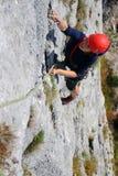 Escalador de roca Foto de archivo libre de regalías