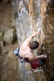 Escalador de roca masculino Imagen de archivo