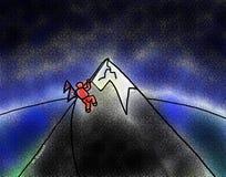 Escalador el monte Everest del terremoto de Nepal stock de ilustración