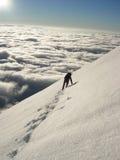 Escalador en alto Tatras Foto de archivo