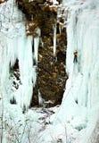 Escalador en el hielo Imagen de archivo libre de regalías