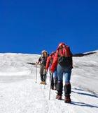 Escaladores de montaña Fotos de archivo
