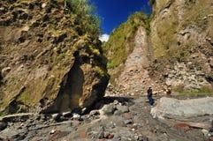 Escaladores de montaña de Pinatubo del montaje Foto de archivo libre de regalías
