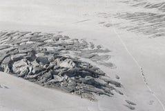 Escaladores del glaciar Imagen de archivo libre de regalías