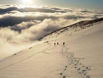 Escaladores en alto Tatras Foto de archivo libre de regalías