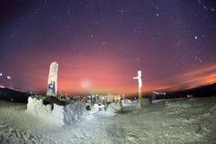 Escaladores Ucrania del campo del Año Nuevo Imágenes de archivo libres de regalías
