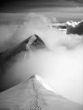 Escalamiento Nadelhorn Fotos de archivo