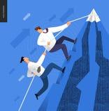 Escalando acima, conceito do negócio Imagens de Stock Royalty Free