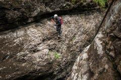 Escalando em Weissenbach, Áustria Fotos de Stock