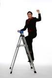 Escalando a escada corporativa Fotografia de Stock