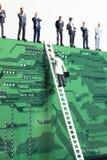 Escalando a escada corporativa Foto de Stock
