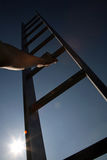 Escalando a escada corporativa imagem de stock royalty free