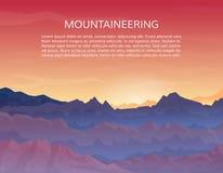 Escalando, fundo dos esportes trekking ou de extremo Imagem de Stock