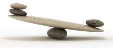 Escalas da estabilidade com as grandes e pedras pequenas foto de stock